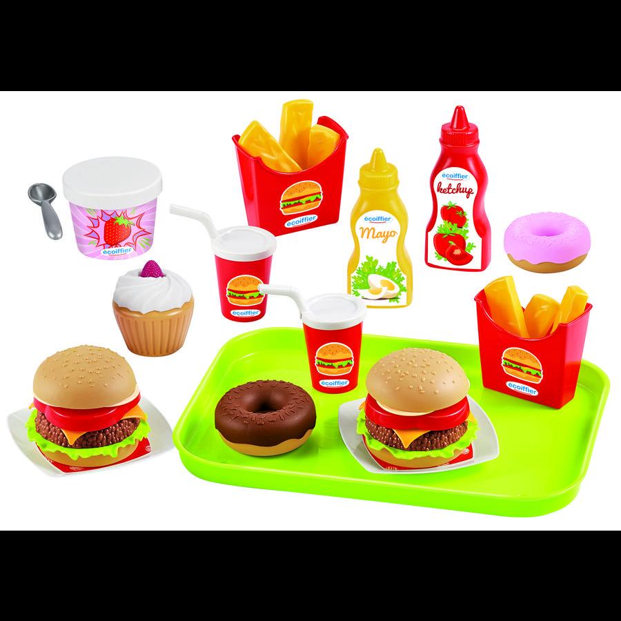 ecoiffier Hamburger-Set mit Tablett