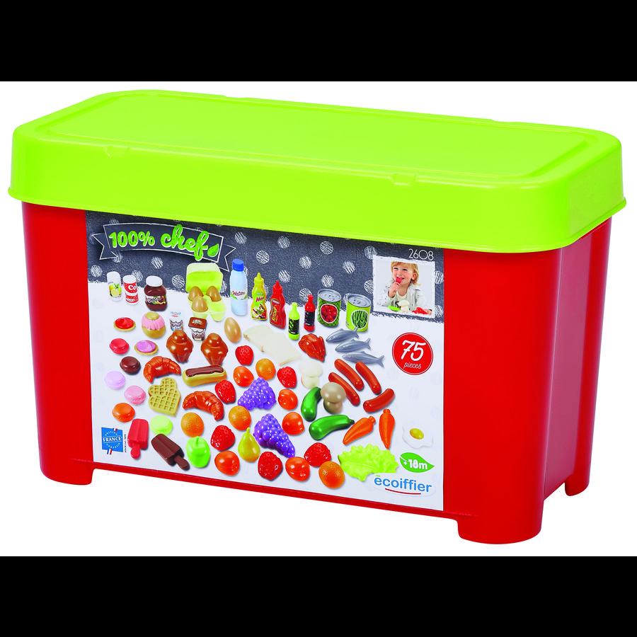 ecoiffier Box mit Spiellebensmitteln