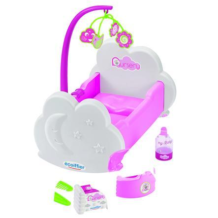 ecoiffier Cuna para muñecas con accesorios