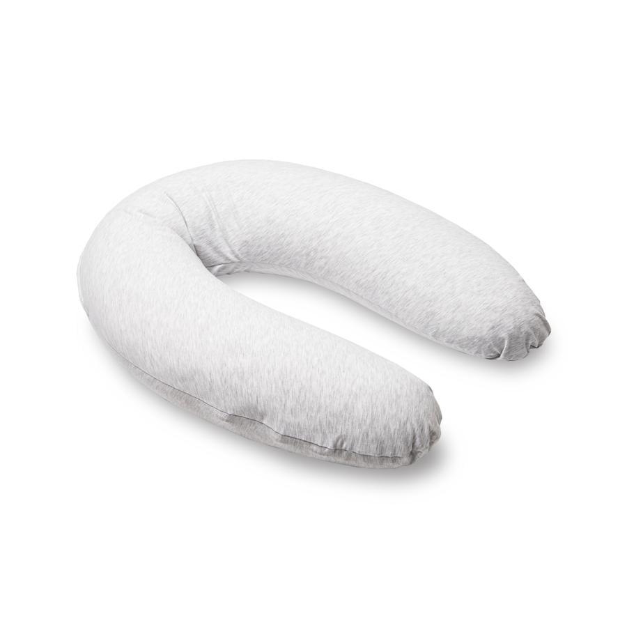 Doomoo Fodera di ricambio per cuscino da allattamento Buddy Melange grigio chiaro