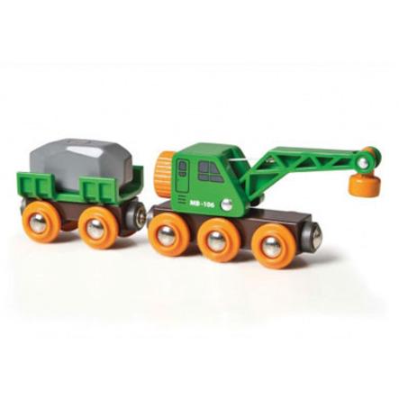 Jeřáb BRIO s vozíkem a nákladem