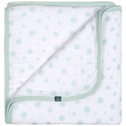 emma & noah tæppe prikker Mint 120 x 120 cm