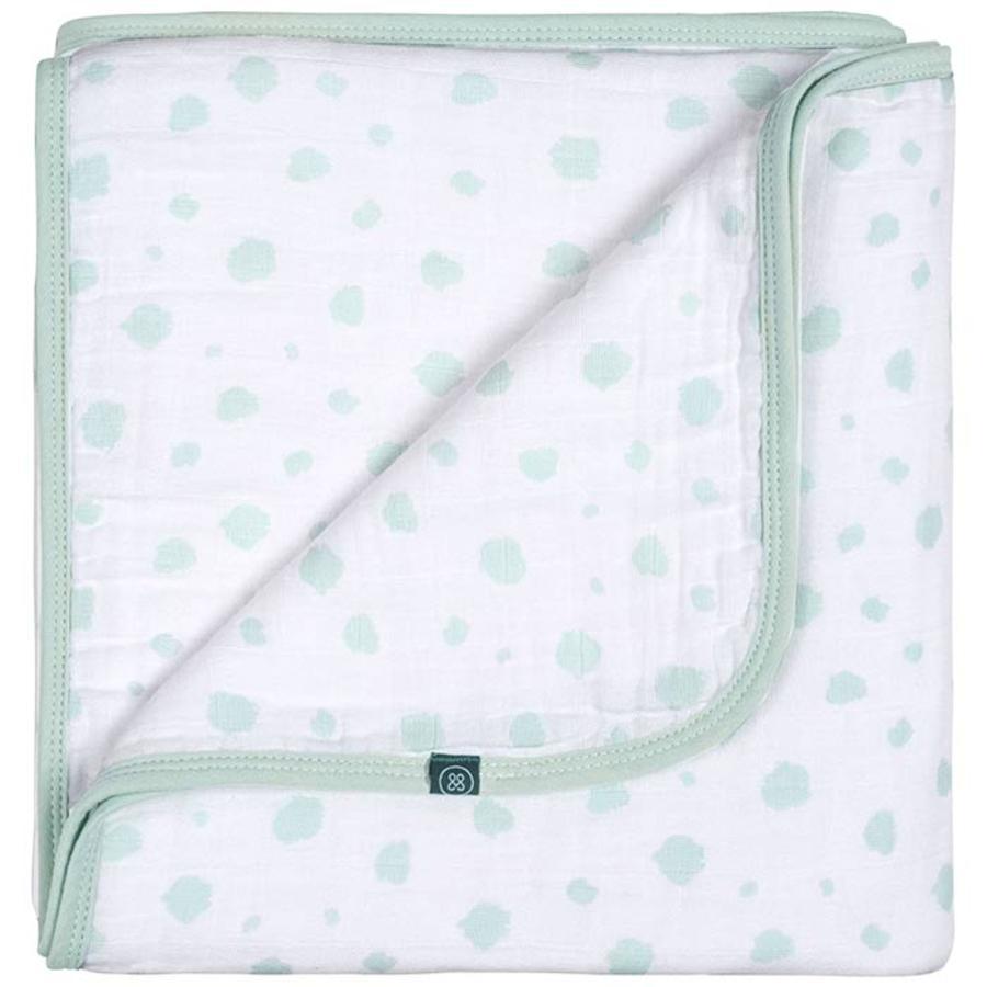 emma & noah Couverture bébé pois mint 120x120 cm