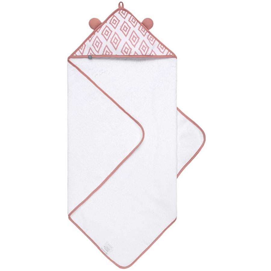 emma & noah hætteklædte med håndklæde lyserød 80 x 80 cm