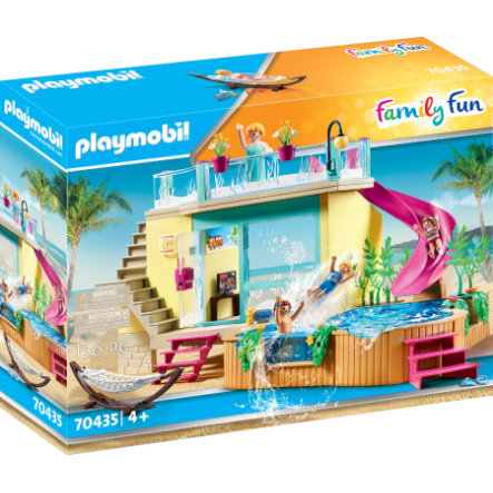 PLAYMOBIL  ® Bungalow familiar de diversión con piscina