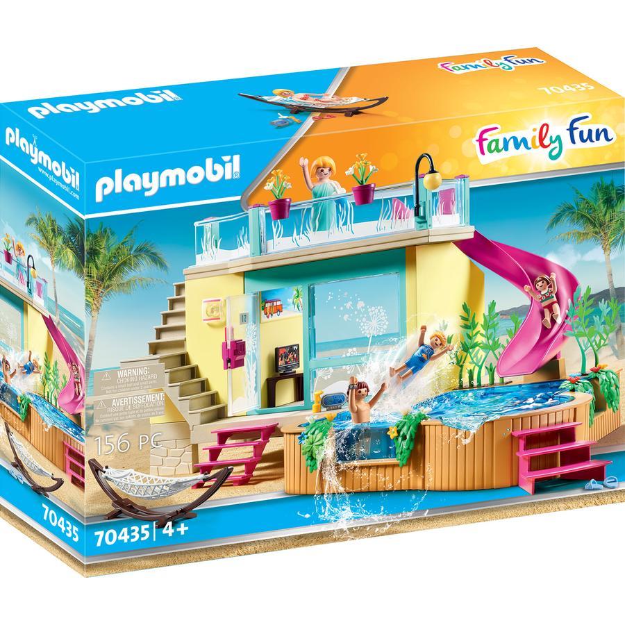 PLAYMOBIL Family Fun Rodinný bungalov s bazénem