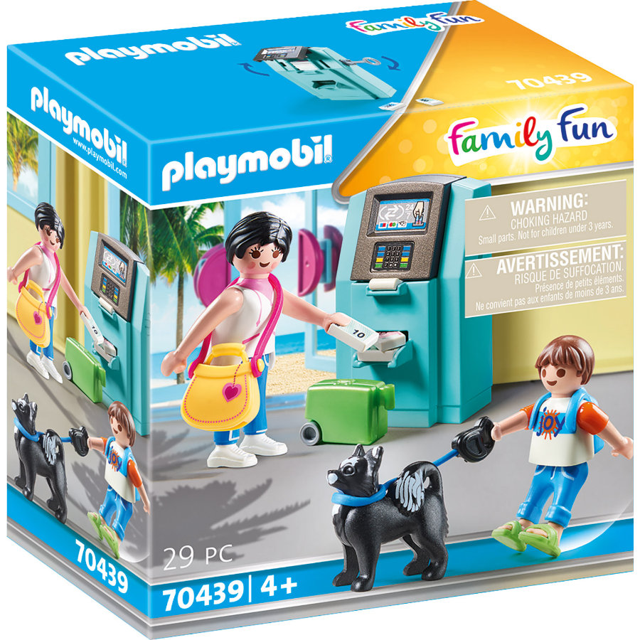 PLAYMOBIL  Famille Fun Holidaymaker avec distributeur de billets