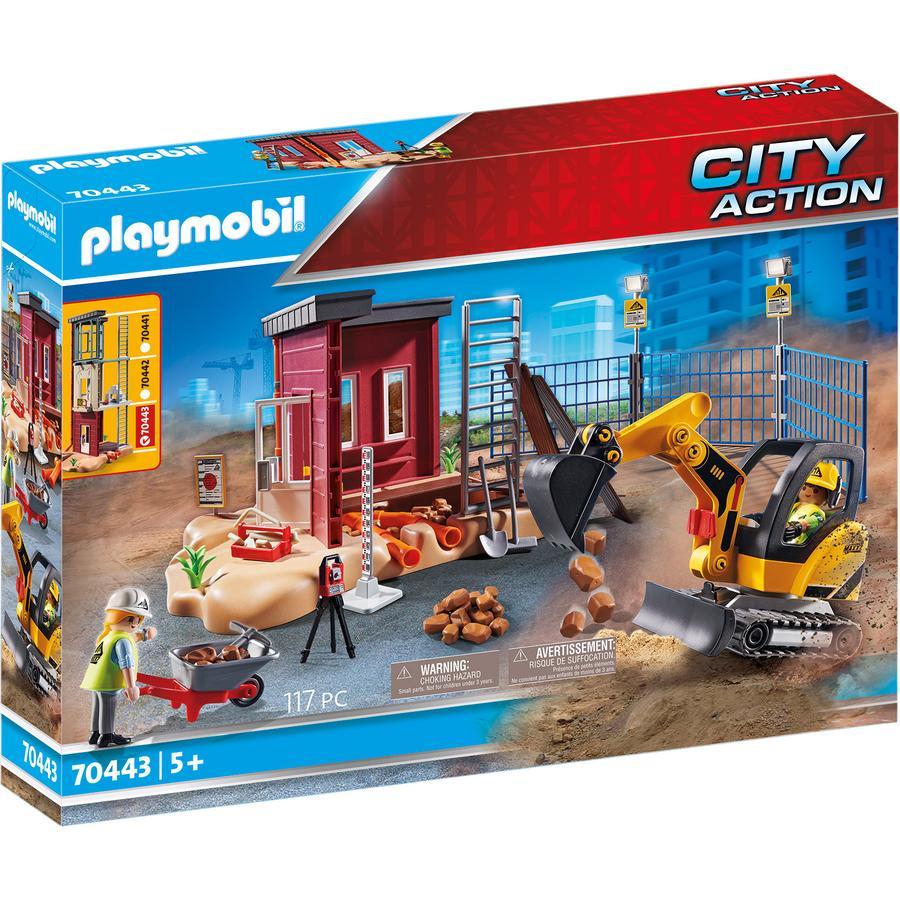 PLAYMOBIL® CITY ACTION Figurine mini pelleteuse et chantier 70443