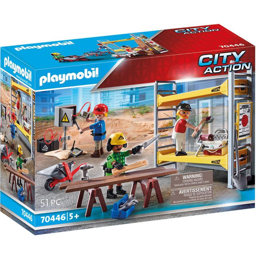 PLAYMOBIL® CITY ACTION Figurine ouvriers avec échafaudage 70446