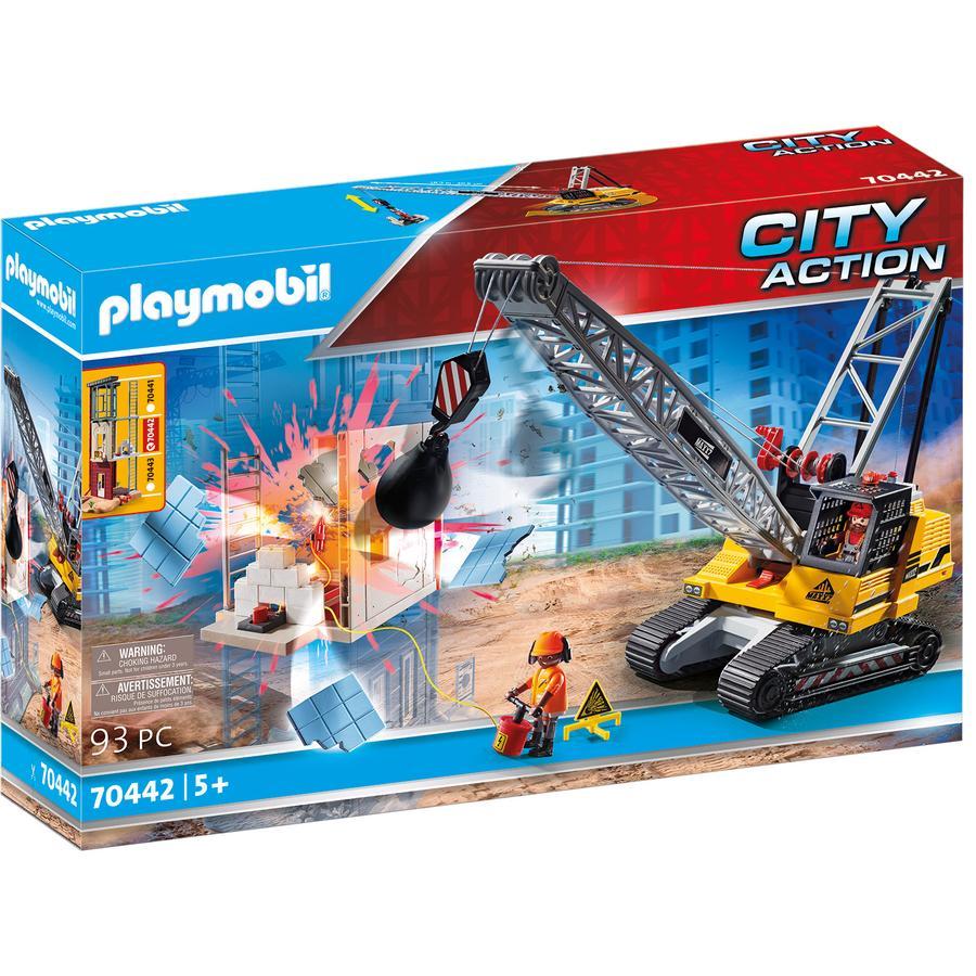 PLAYMOBIL CITY ACTION pásový jeřáb s komponentou
