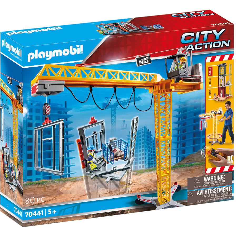 PLAYMOBIL ® CITY ACTION RC -rakennusnosturi komponentilla