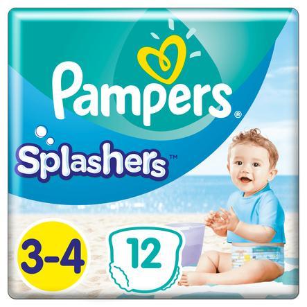 Pampers Splash ers maat 3-4, 12 wegwerpzwemluiers