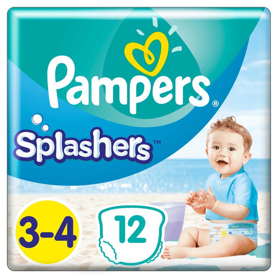 Pampers Splash de tamaño 3-4, 12 pañales de baño desechables