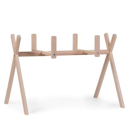 CHILDHOME Support couffin + portique d'éveil 2en1 tipi bois naturel