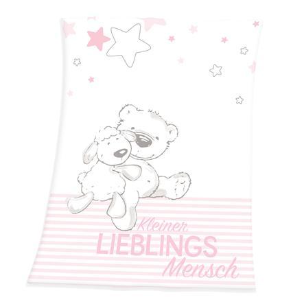 babybest® Koc z polaru z mikrofibry Mały ulubiony różowy