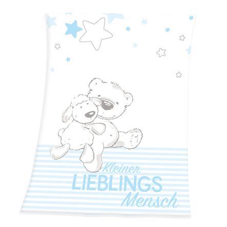babybest® Microfaserflauschdecke Kleiner Lieblingsmensch blau