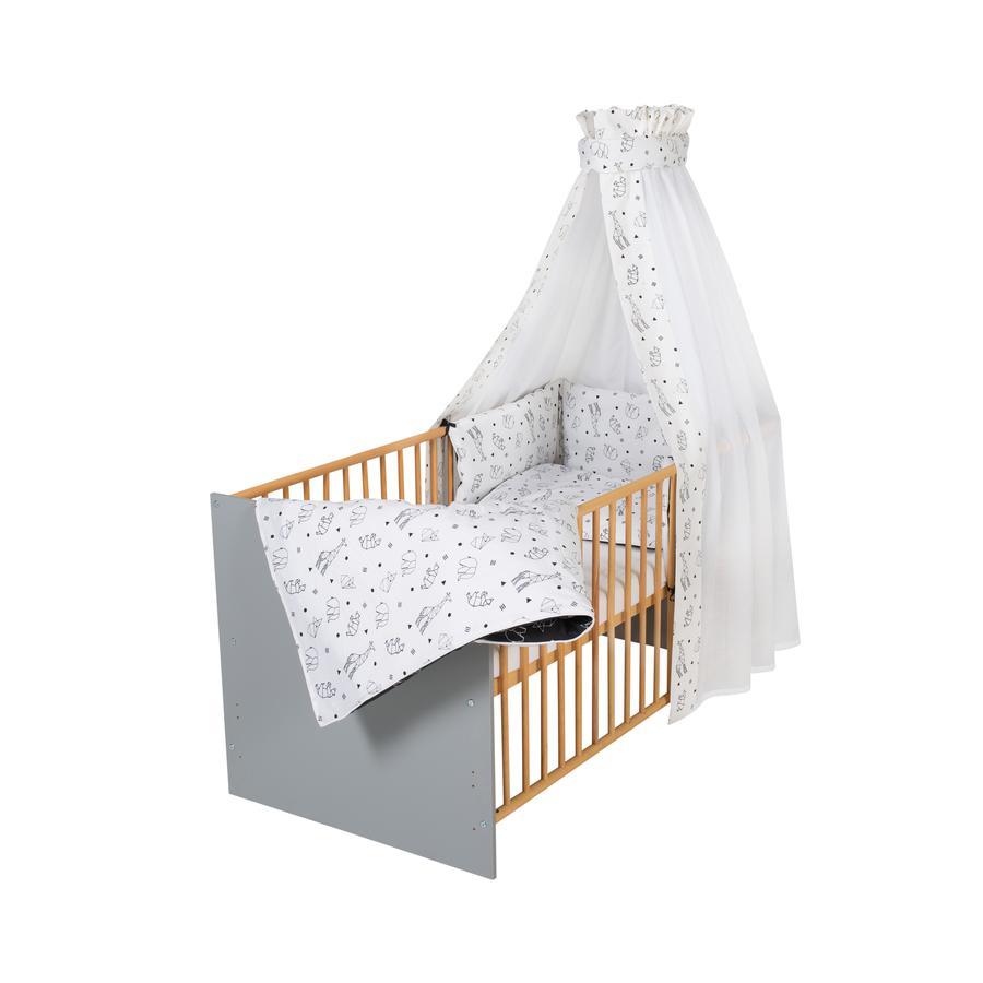 Schardt Lit enfant à barreaux complet Classic Grey Origami black 70x140 cm