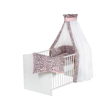 Schardt Komplet seng Klasse ic Hvid Leo Pink 70 x 140 cm