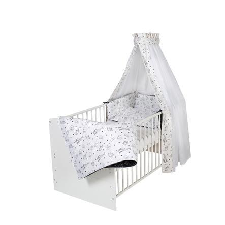 Schardt Lit enfant à barreaux évolutif Classic White Origami Black 70x140 cm