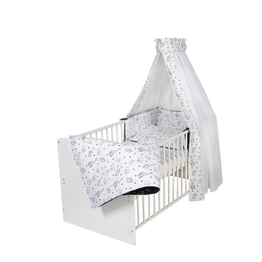 Schardt Kompletne łóżko Class ic White Origami Black 70 x 140 cm