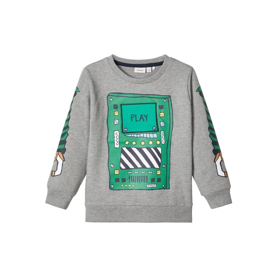 name it Sweatshirt pour garçons NMMBOBOT Grey Melange