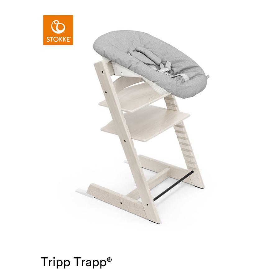 STOKKE® Tripp Trapp® Hochstuhl Buche Whitewash inkl. Newborn Set™ Grey
