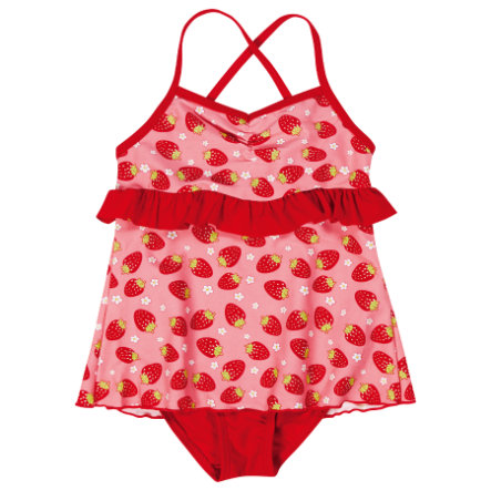 PLAYSHOES Maillot de bain enfant, protection UV, fille, Fraise, rouge