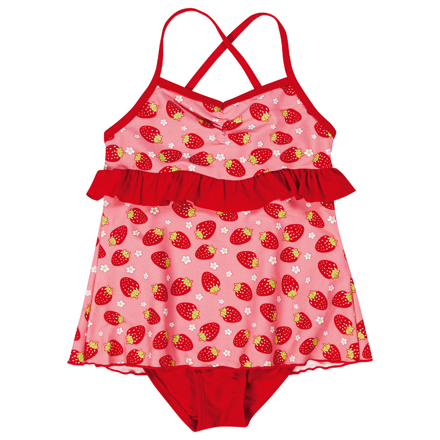 PLAYSHOES Girls Costume Protezione Anti-UV FRAGOLA rosso
