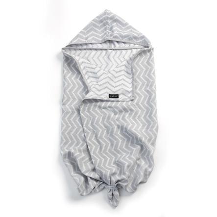 KipKep Blenker badehåndkle med hette sølvgrå