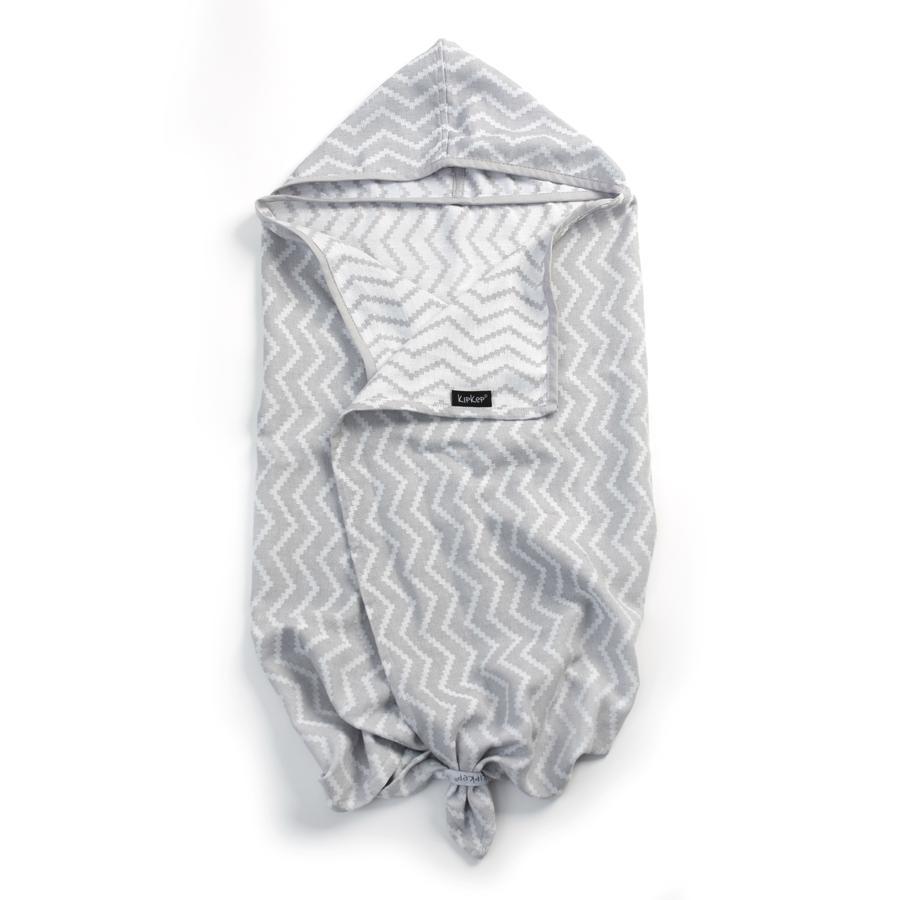 KipKep Kapuzenbadetuch Silver Grey