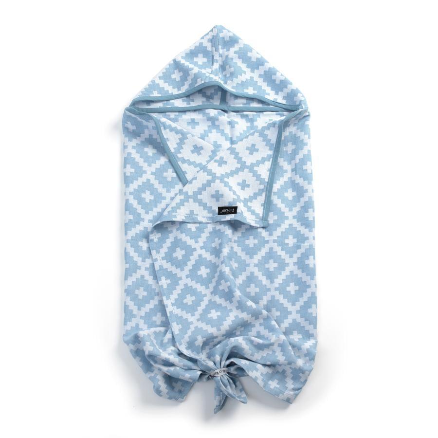 KipKep Blenker badehåndklæde med hætte Niagara Blue