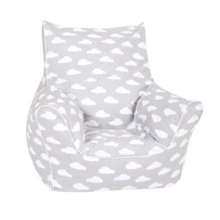"knorr® toys Kindersitzsack - ""Grey white clouds"""