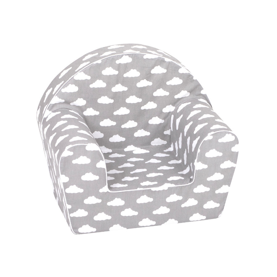 """knorr® toys Kindersessel - """"Grey white clouds"""""""