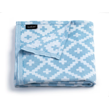 KipKep Blenker badehåndkle 170 x 100 cm Niagara Blue