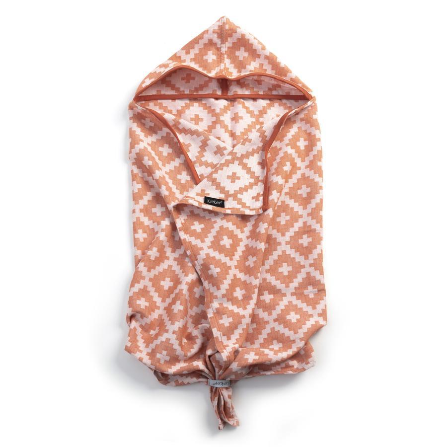 KipKep Blenker badehåndklæde med hætte Emberglow Red