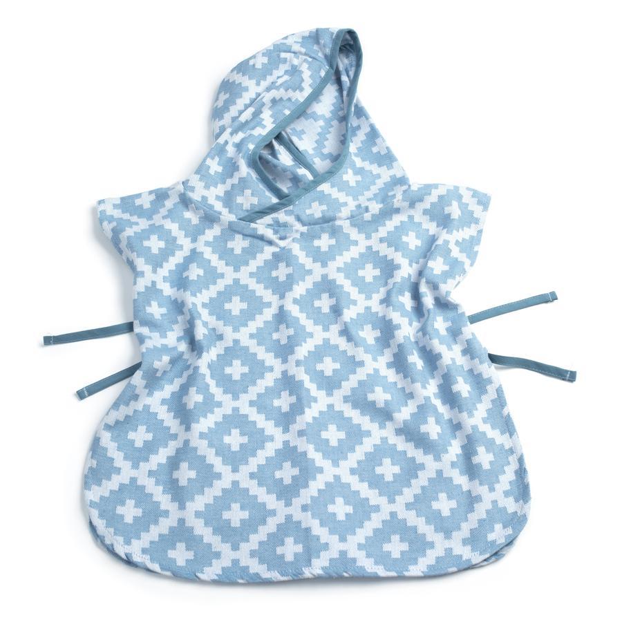 KipKep Poncho de bain enfant Blenker Niagara Blue 68x55 cm