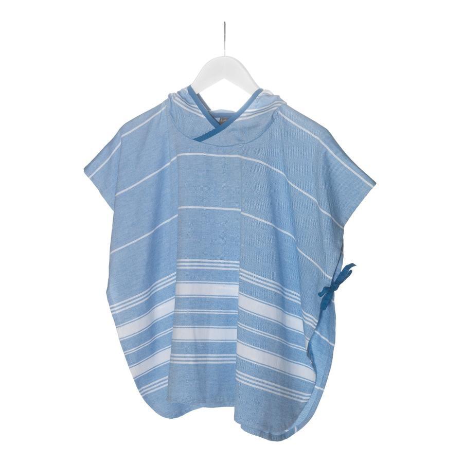 KipKep Blenker Poncho Badcape 68 x 55 cm Blue