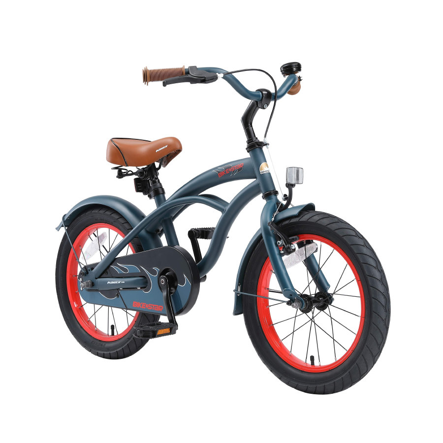 "bikestar Premium Sicherheits Kinderfahrrad 16"" Cruiser, blau"