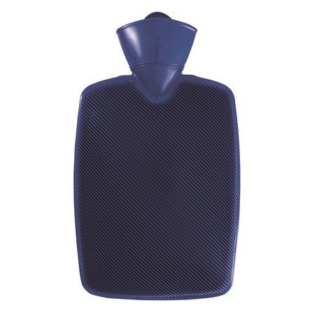 HUGO FROSCH Wärmflasche Klassik Hugo 1.8 L Halblamelle blau