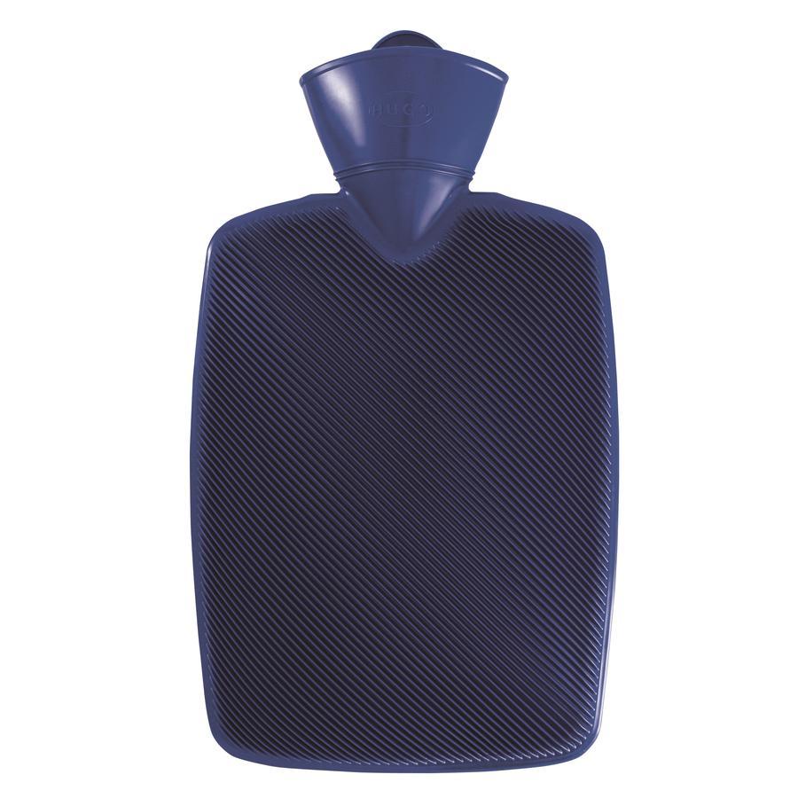 HUGO FROSCH Varmtvannsflaske Klassik Hugo 1,8 L halv lamellablå