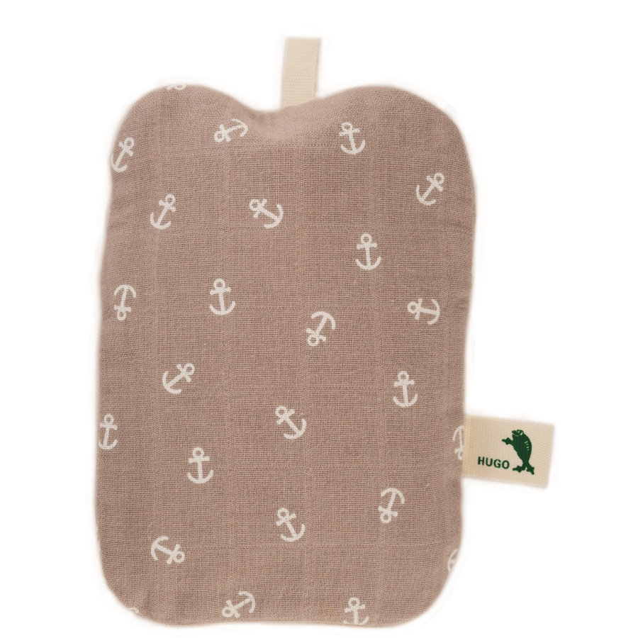 HUGO FROSCH Wärmflasche Mini 0.2 L kbA-Baumwollbezug Anker