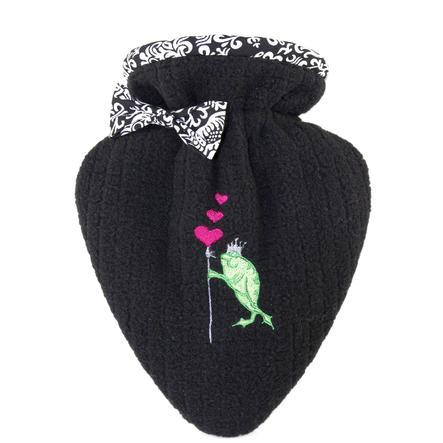 HUGO FROSCH Warmwaterfles hart 0,4 L deksel zwart Kikkerkoning