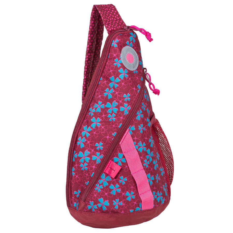 LÄSSIG Zainetto Mini Backpack Blossy pink, fucsia fantasia a fiori