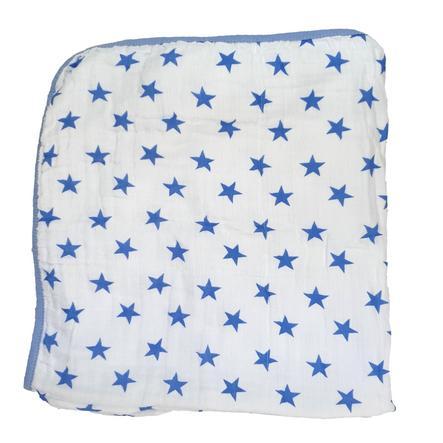 HÜTTE & CO Cape de bain enfant bleu 75x75 cm