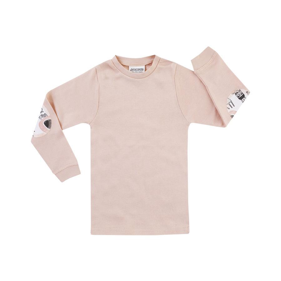 JACKY tričko s dlouhým rukávem GIRLS růžové