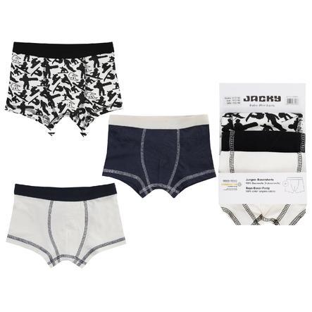 JACKY boxerky 3ks BOYS off bílá / černá