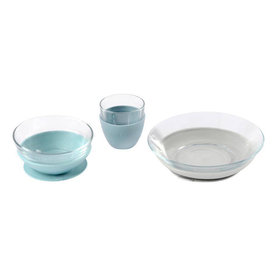BEABA Geschenkset Glas-Geschirr blau ab dem 6. Monat