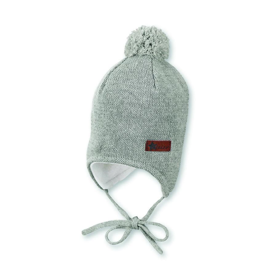 Sterntaler casquette tricotée en argent mélangé