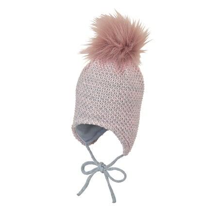 Sterntaler Cappello a maglia rosa