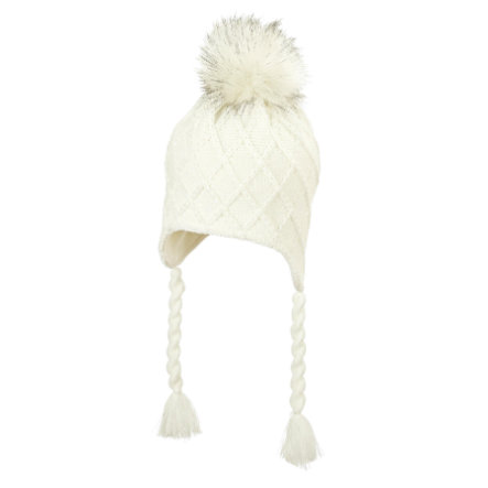 Sterntaler Casquette tricotée écru